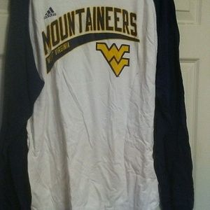 Adidas Long sleeve WV Mountaineers Jerseyy
